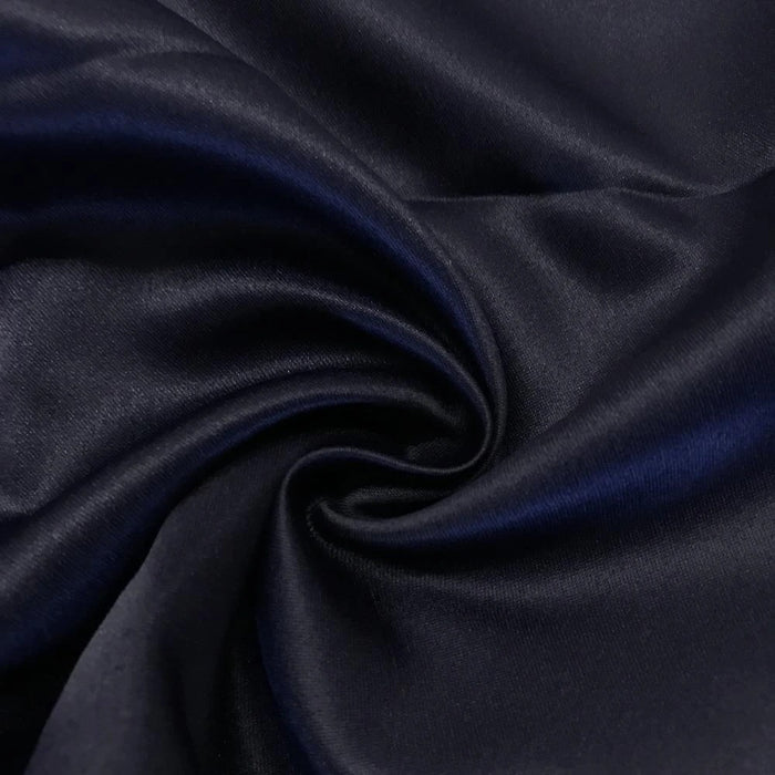 "NAVY - Matte Satin Fabric 100% Polyester By The Yard  60"" Wide - IceFabrics"