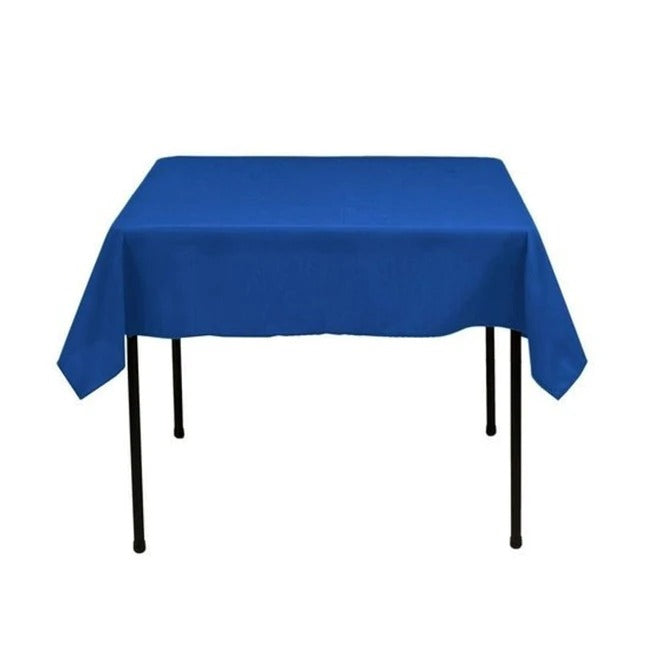 Royal Blue - Washable Polyester 60 x 60 Inch Square Tablecloth - IceFabrics
