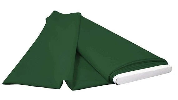 Hunter Green - LA Linen Polyester Poplin Solid Color Flat Fold Fabric, 6 Yards, Bolt - IceFabrics