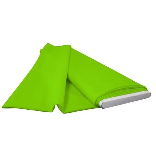 Lime - LA Linen Polyester Poplin Solid Color Flat Fold Fabric, 6 Yards, Bolt - IceFabrics