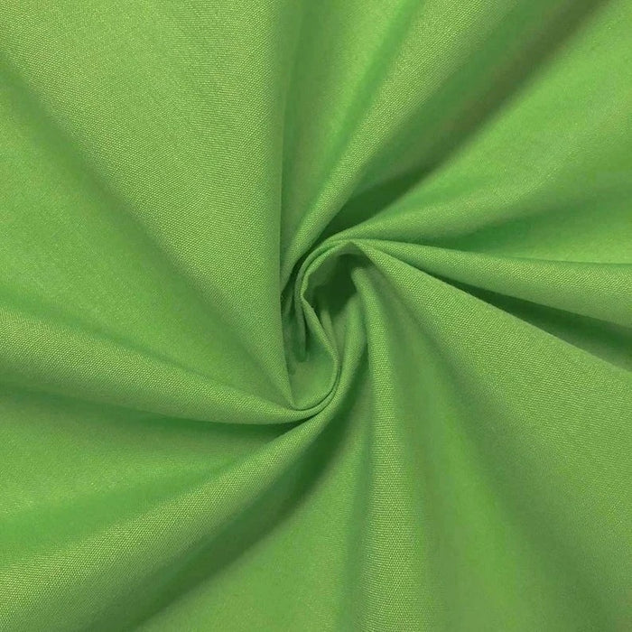 "Apple Green - High Quality 60"" Wide Poly Cotton Fabric By The Yard For Costumes, Garments Bed Spreads Pillow Cases - IceFabrics"