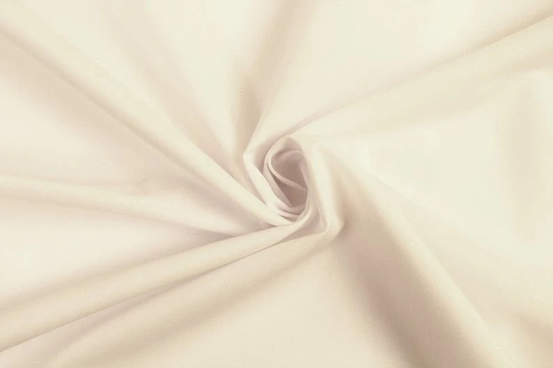 "Beige - High Quality 60"" Wide Poly Cotton Fabric By The Yard For Costumes, Garments Bed Spreads Pillow Cases - IceFabrics"