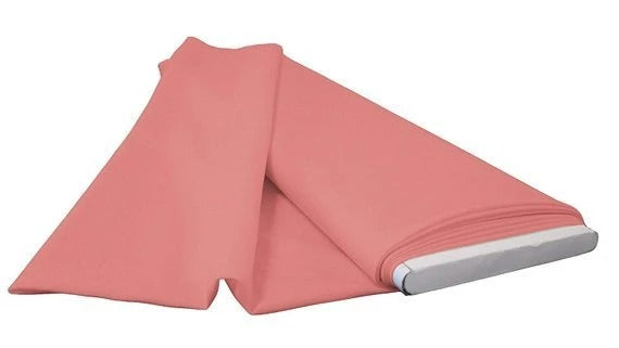 Dusty Rose - LA Linen Polyester Poplin Solid Color Flat Fold Fabric, 6 Yards, Bolt - IceFabrics