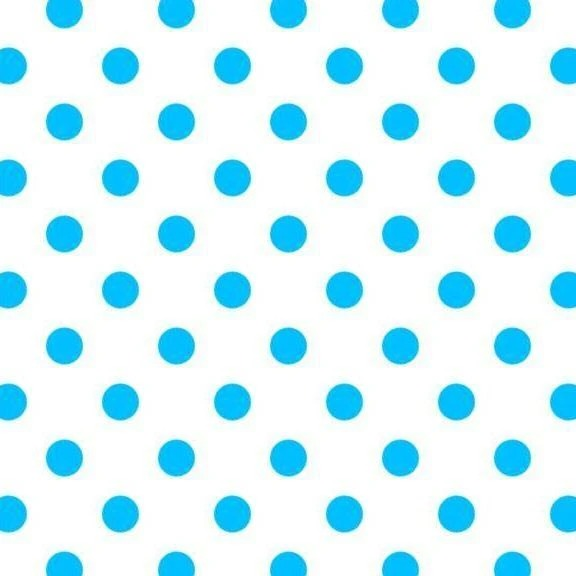 Blue Dot on White - 1-Inch Polka Dot/Spot Poly Cotton Fabric - IceFabrics