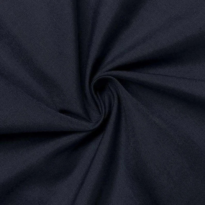 "Navy Blue - High Quality 60"" Wide Poly Cotton Fabric By The Yard For Costumes, Garments Bed Spreads Pillow Cases - IceFabrics"