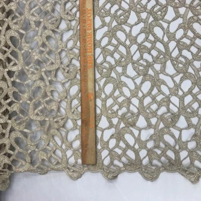Gold - Design Beaded Mesh Lace Fabric Bridal Wedding Clothes - IceFabrics
