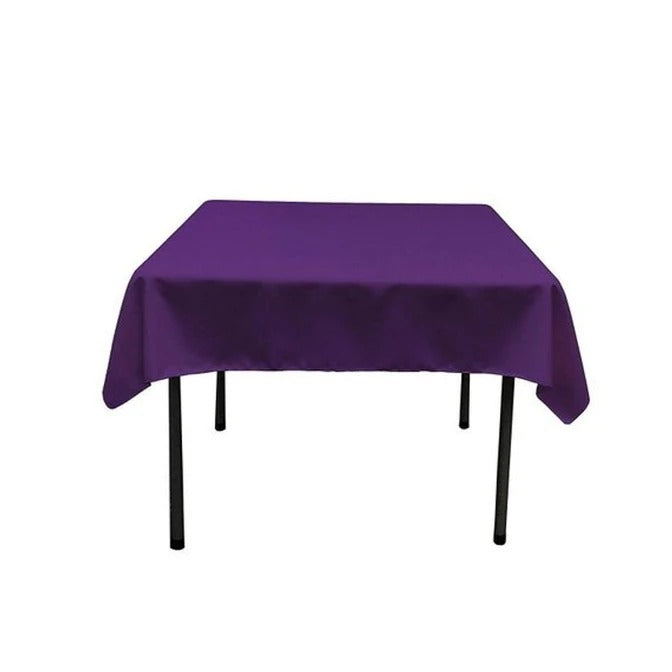 Purple - Washable Polyester 60 x 60 Inch Square Tablecloth - IceFabrics