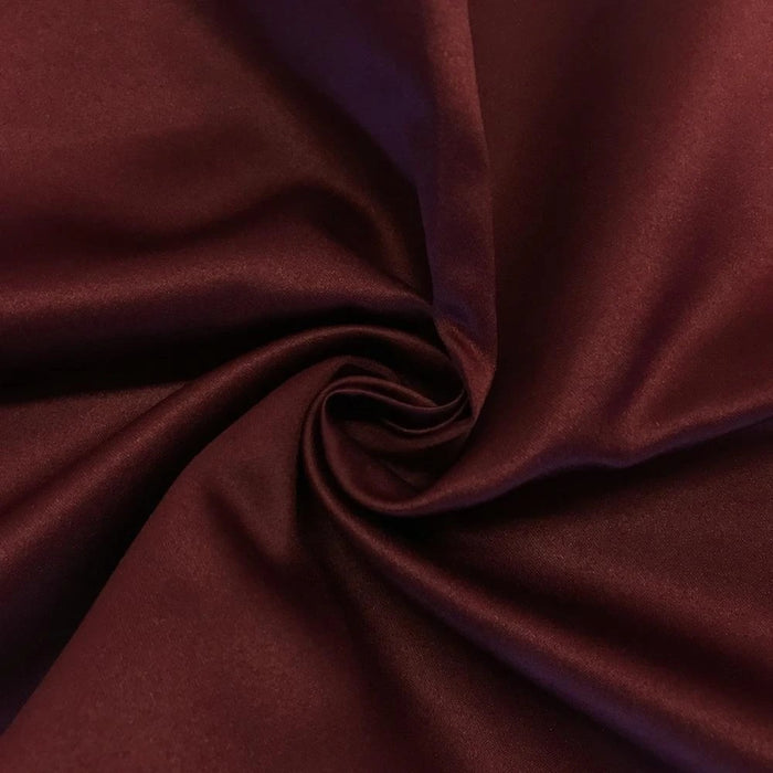 "WINE - Matte Satin Fabric 100% Polyester By The Yard  60"" Wide - IceFabrics"