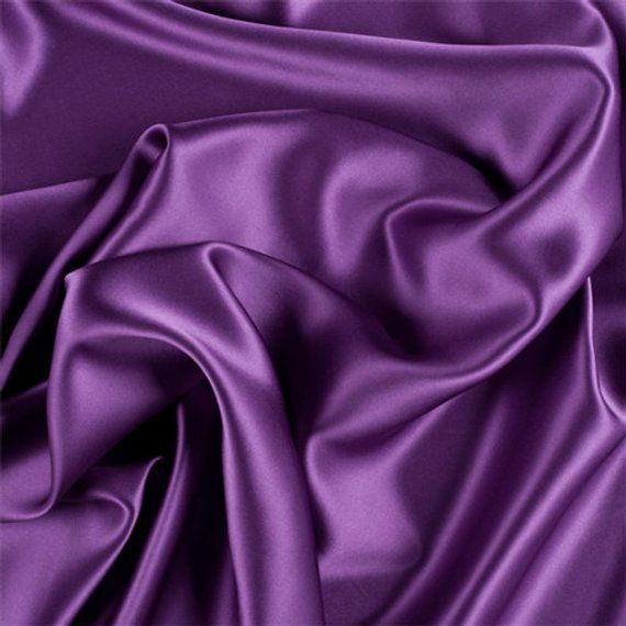 5% Stretch Satin Fabric Spandex Fabric BTY (Plum)