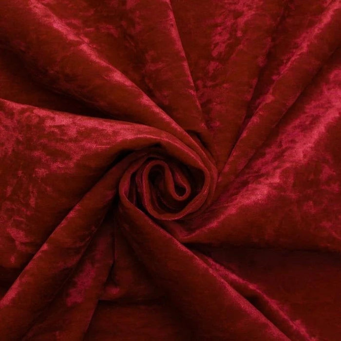 Red - 58/60 Inch Stretch Crushed Velvet Fabric By The Yard - IceFabrics