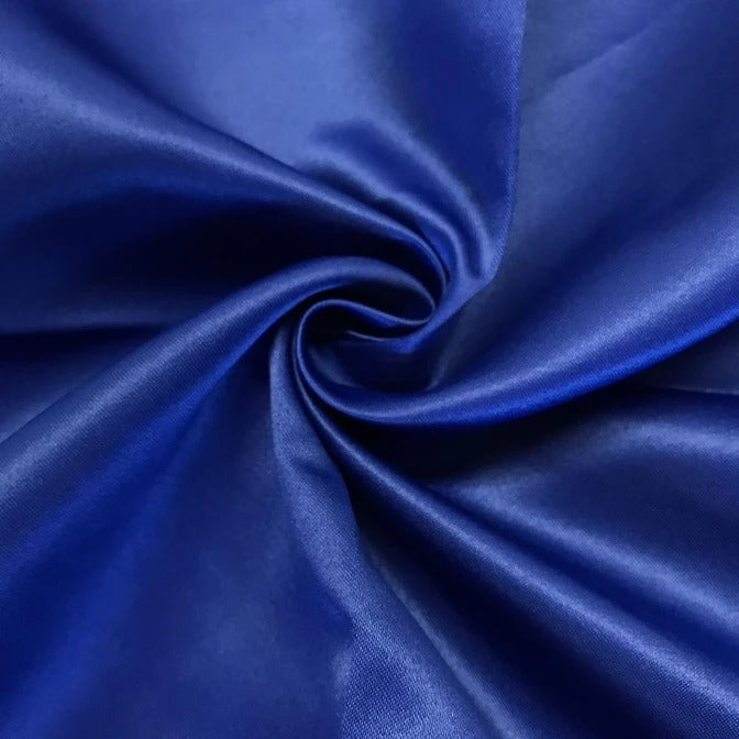 "ROYAL BLUE - Matte Satin Fabric 100% Polyester By The Yard  60"" Wide - IceFabrics"