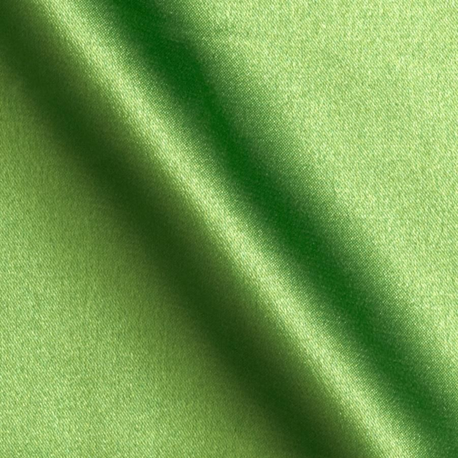 5% Stretch Satin Fabric Spandex Fabric BTY (Lime Green)