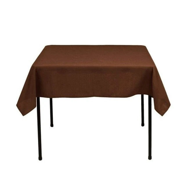 Chocolate - Washable Polyester 60 x 60 Inch Square Tablecloth - IceFabrics