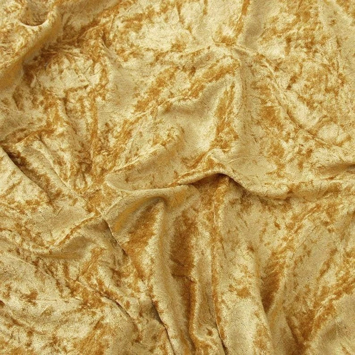 Gold - 58/60 Inch Stretch Crushed Velvet Fabric By The Yard - IceFabrics