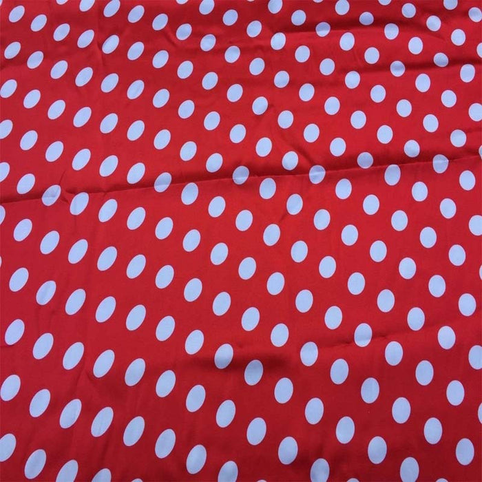 Red/white - Black/yellow - 1/2inch Polka Dot Silky/Soft Charmeuse Satin Fabric - ICE FABRICS
