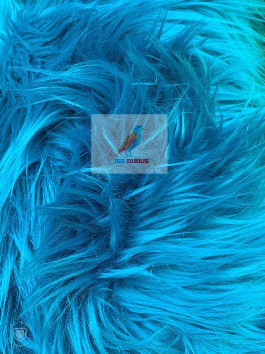 Teal - Fur Coats, Fur Clothing, Blankets, Bed Spreads, Throw Blanket Fake Fur Solid Mongolian Long Pile Fabric / Sold By The Yard - IceFabrics