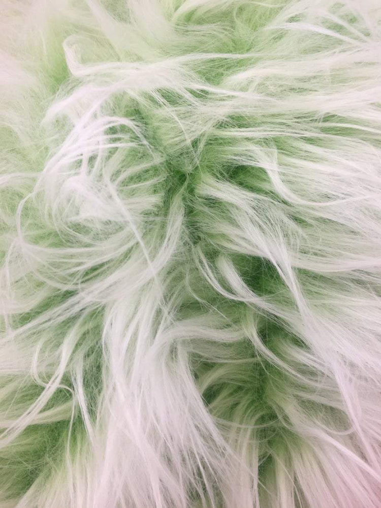 Green - Fur Coats, Fur Clothing, Blankets, Bed Spreads, Throw Blankets Polar Bear Shaggy Faux Fur Fabric / Sold By The Yard - IceFabrics