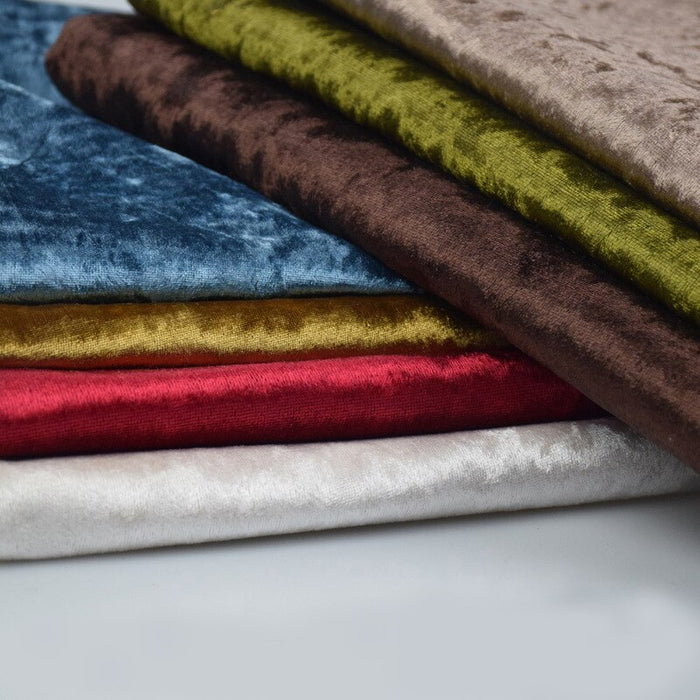 58/60 Inch Wide High-Quality Stretch Crushed Velvet Fabric By The Yard