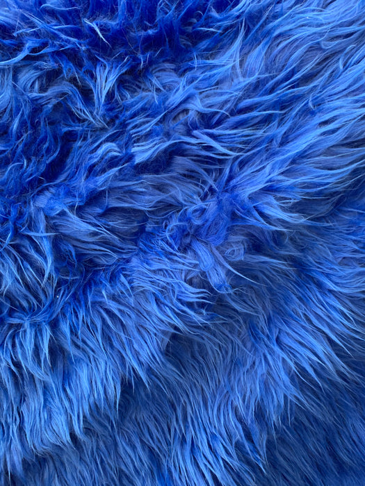 Mongolian Long Pile Fake Faux Fur Fabric Sold By The Yard