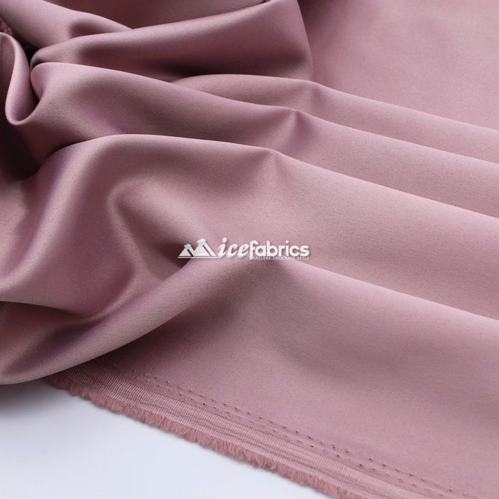 Thick Silky Armani %3 Stretch Shiny Satin Fabric By The Roll (20 YARD)