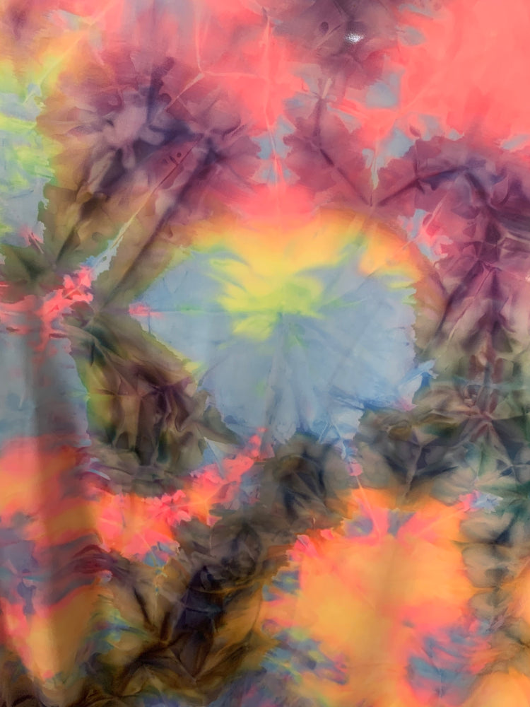 Tie Dye Multi-Color Print Crushed Swimsuit Spandex Fabric By The Yard