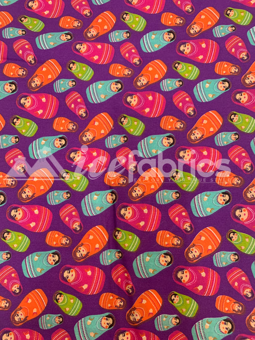 Fashion Russian Doll Print Poly Cotton Fabric By The Yard