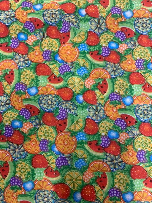 Fashion Fabric Fruits Print Poly Cotton Fabric By The Yard