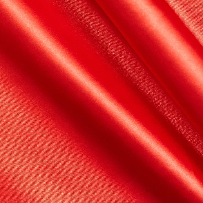 5% Stretch Satin Fabric Spandex Fabric BTY (Red)