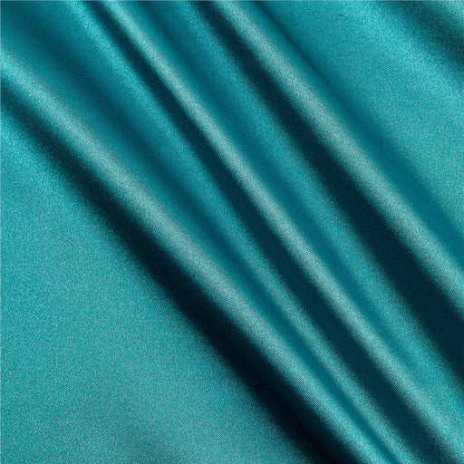 5% Stretch Satin Fabric Spandex Fabric BTY (Light Teal)