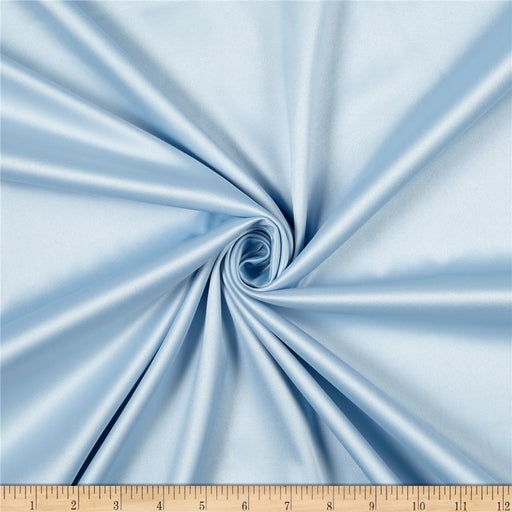 5% Stretch Satin Fabric Spandex Fabric BTY (Light Blue)