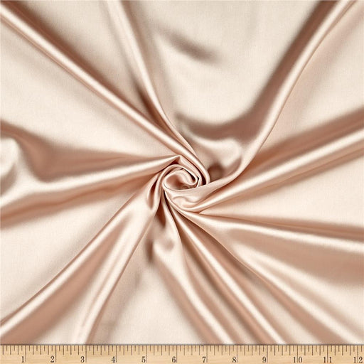 5% Stretch Satin Fabric Spandex Fabric BTY (Beige)