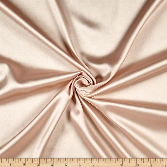 5% Stretch Satin Fabric Spandex Fabric BTY (Champagne)