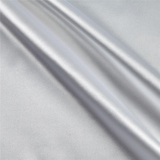 5% Stretch Satin Fabric Spandex Fabric BTY (Off White)