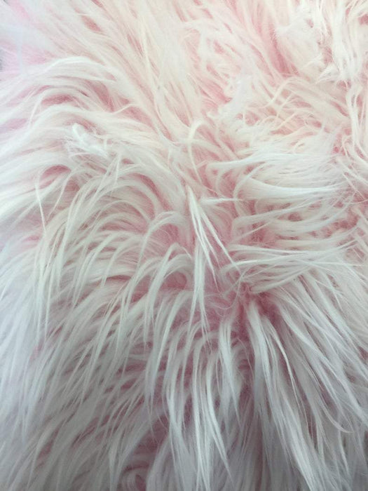 Pink - Fur Coats, Fur Clothing, Blankets, Bed Spreads, Throw Blankets Polar Bear Shaggy Faux Fur Fabric / Sold By The Yard - IceFabrics