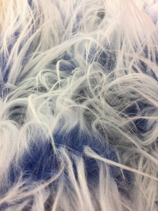Royal Blue - Fur Coats, Fur Clothing, Blankets, Bed Spreads, Throw Blankets Polar Bear Shaggy Faux Fur Fabric / Sold By The Yard - IceFabrics
