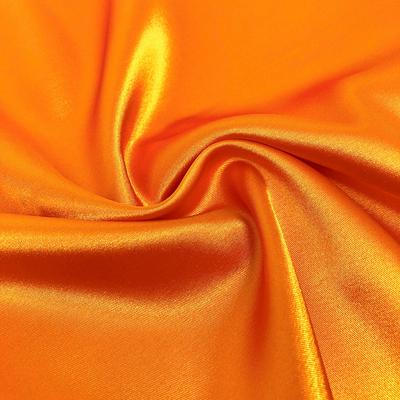 5% Stretch Satin Fabric Spandex Fabric BTY (Orange)