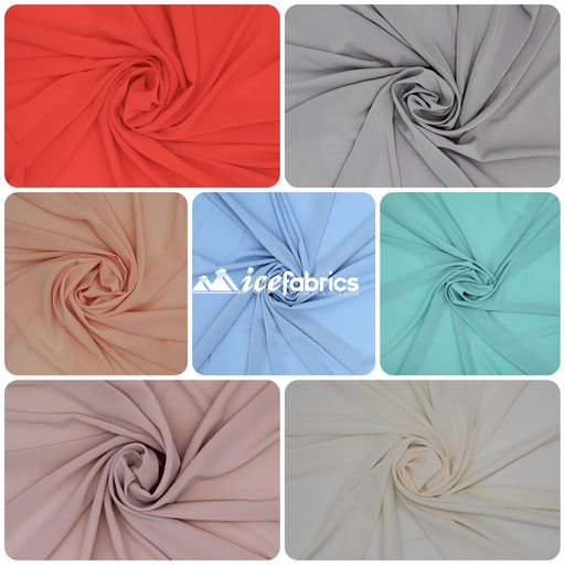 Silky Stretch Chiffon Fabric By The Roll (25 Yard)