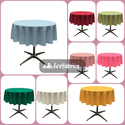 "51"" Polyester Round Tablecloth (18 Colors)"