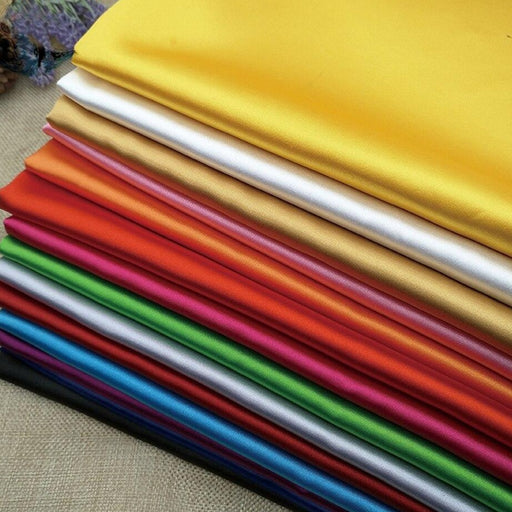 Stretch Charmeuse Silky Satin Fabric By The Yard (36 Colors Available)