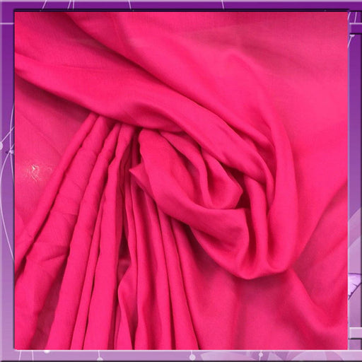 Pink - 100% Rayon Challis Cerise 58 Inches Wide Fabric Sold by the Yard soft organic ligth weight kids clothing draping decoration dress - IceFabrics