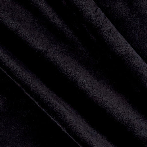 Black - Soft and Snuggly Cuddle Minky Fabric 3 mm Pile - IceFabrics