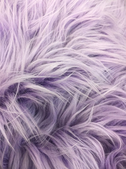 Lavender - Fur Coats, Fur Clothing, Blankets, Bed Spreads, Throw Blanket Fake Fur Solid Mongolian Long Pile Fabric / Sold By The Yard - IceFabrics