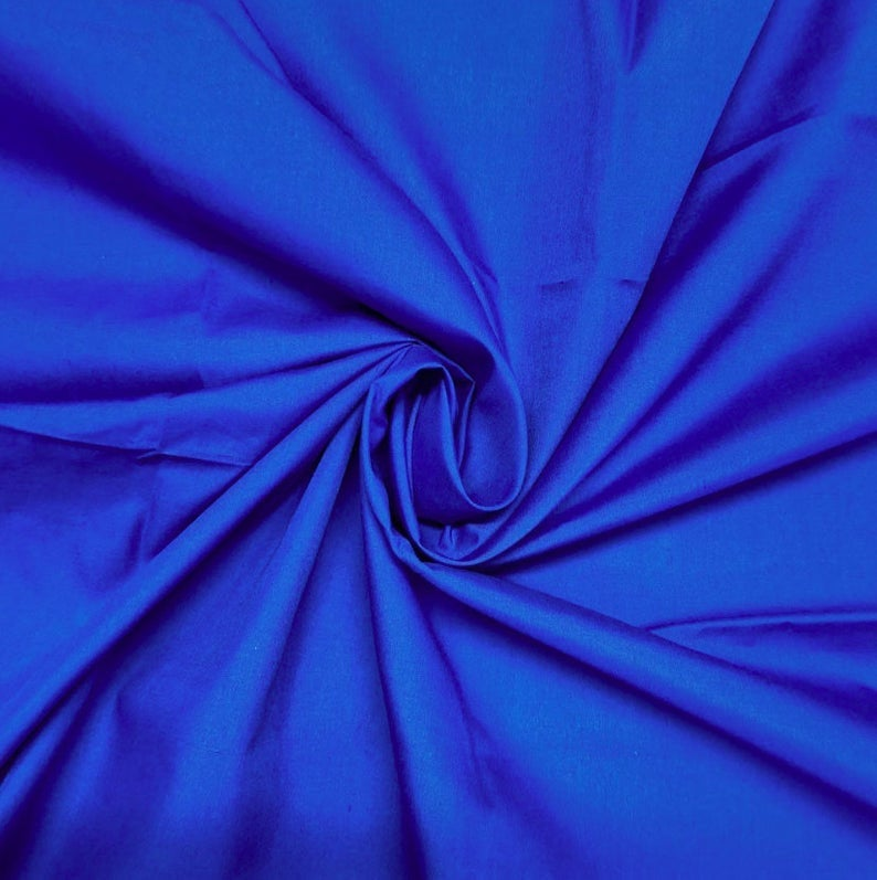"Royal Blue - High Quality 60"" Wide Poly Cotton Fabric By The Yard For Costumes, Garments Bed Spreads Pillow Cases - IceFabrics"