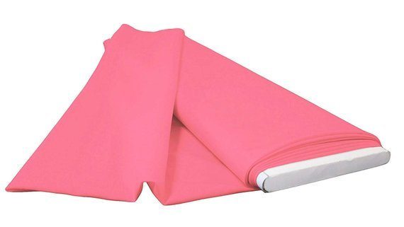Pink - LA Linen Polyester Poplin Solid Color Flat Fold Fabric, 6 Yards, Bolt - IceFabrics