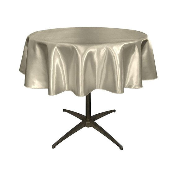 Bridal Satin 51 Inches Round Tableclothes