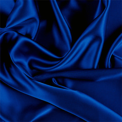 5% Stretch Satin Fabric Spandex Fabric BTY (Navy Blue)