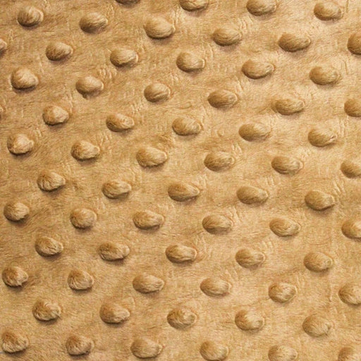 Tan - Minky Dot Cuddle Fabric Sold By The Yard - IceFabrics