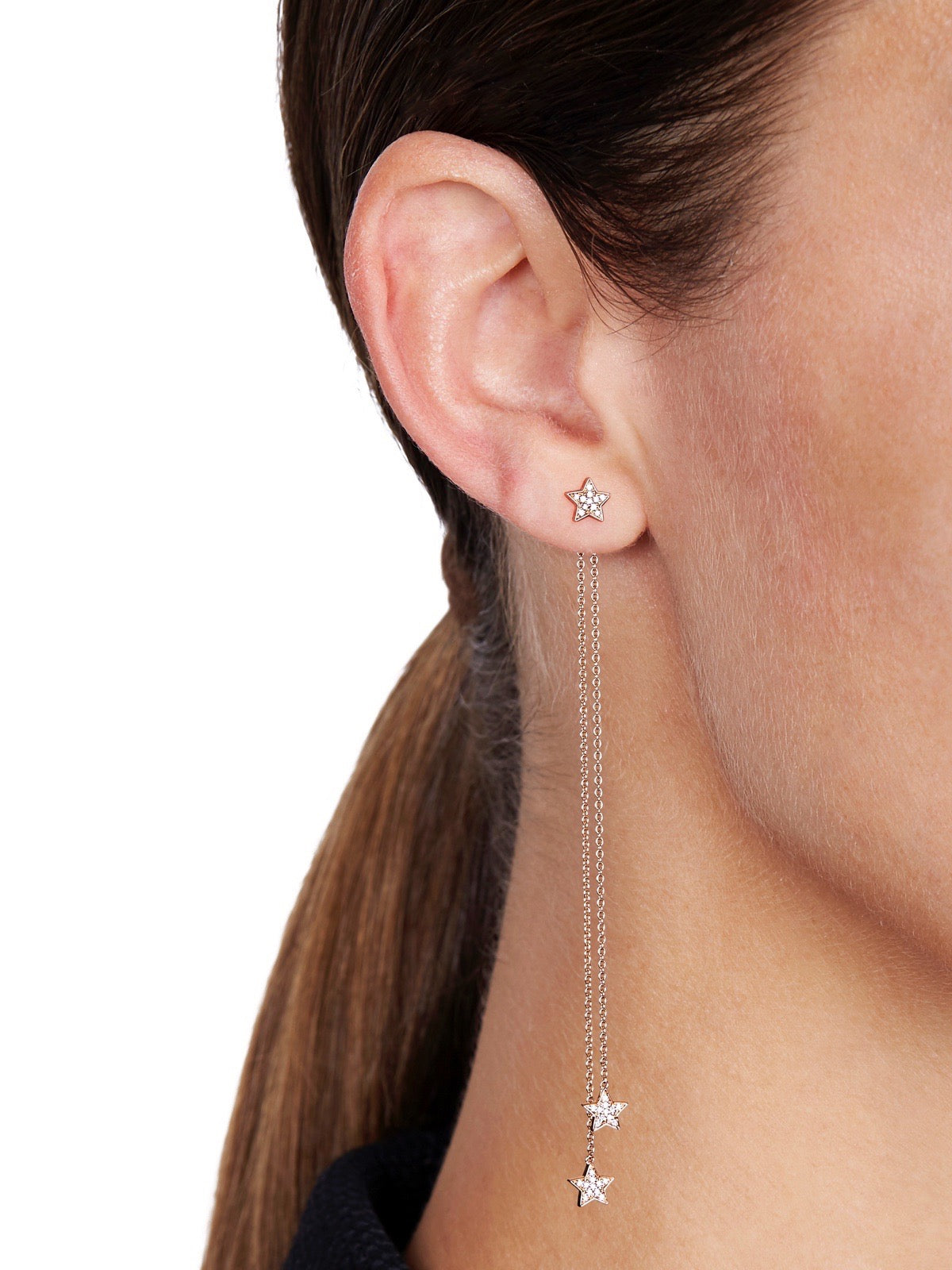 STASIA MINI Multiwear Chain Drop Diamond Stud
