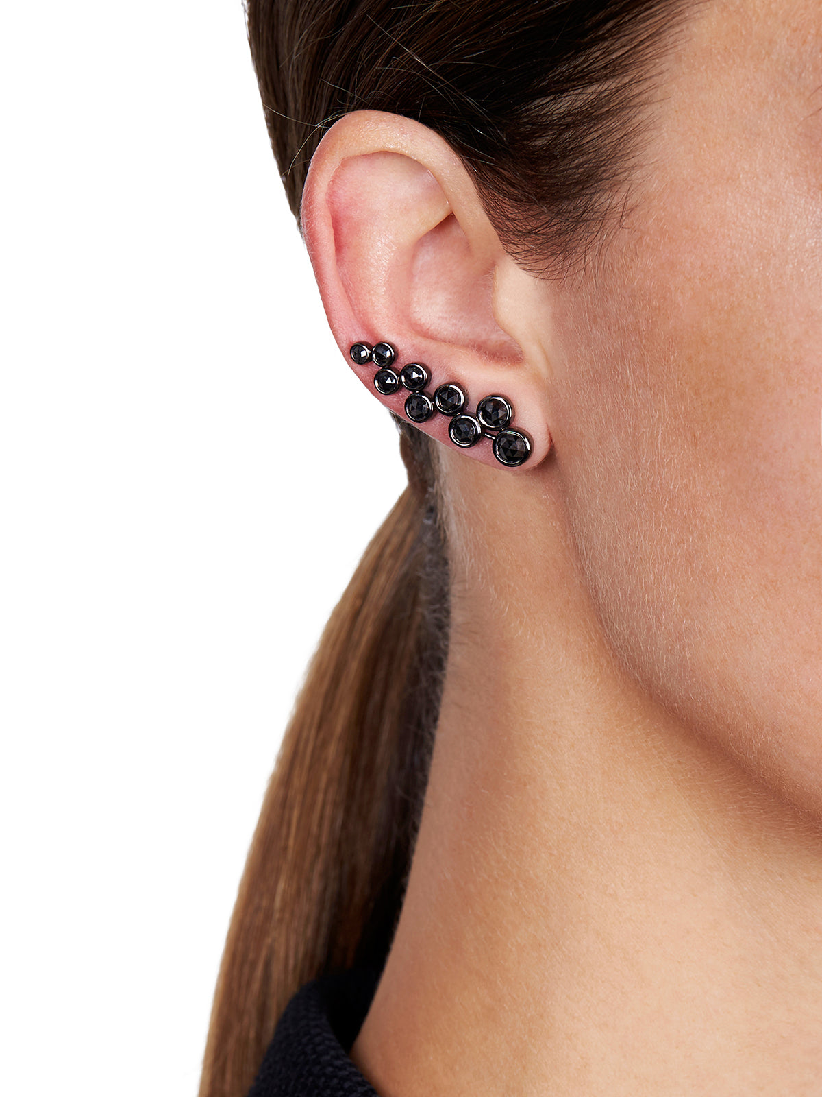SASHA Black Diamond Ear Cuff