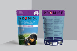 PROMISE Organic Grass Fed Lamb Liver Dog Treats